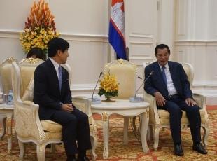 カンボジア訪問(フン・セン首相表敬)